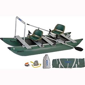 Sea Eagle Green 375fc Inflatable Fold Catfishing Boat