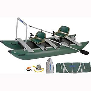 Sea Eagle Green 375 fc Cat Fishing Boat